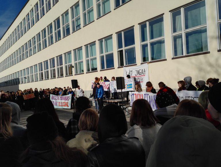 Globala gymnasiet strejkar för Jagaa